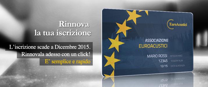 Rinnova l'iscrizione a Euroacustici